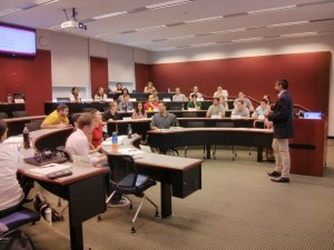 Having fun with the students during Goizueta Emory Lecture