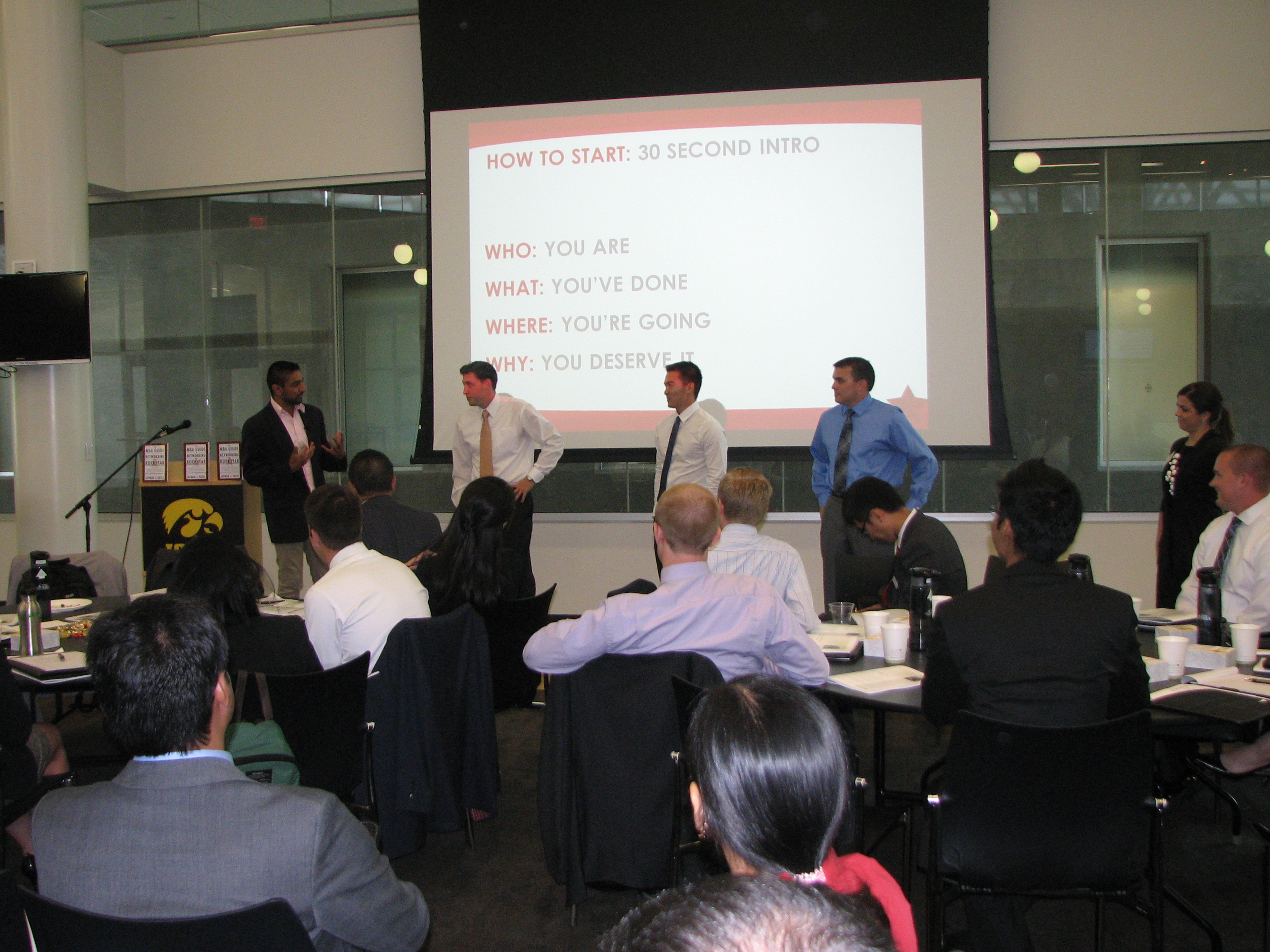 Students put their learning to the test during a workshop at UIowa Tippie School of Business