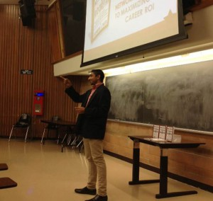 Lecture hall at University of Toronto with over 100 undergraduate students in attendance
